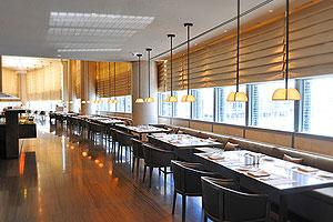 Buffet experience in the Armani Hotel's Mediterraneo restaurant in the Burj al Khalifa building