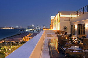 Our last dinner at the Jumeirah Zabel Saray on The Palm with the view of the Dubai sky line
