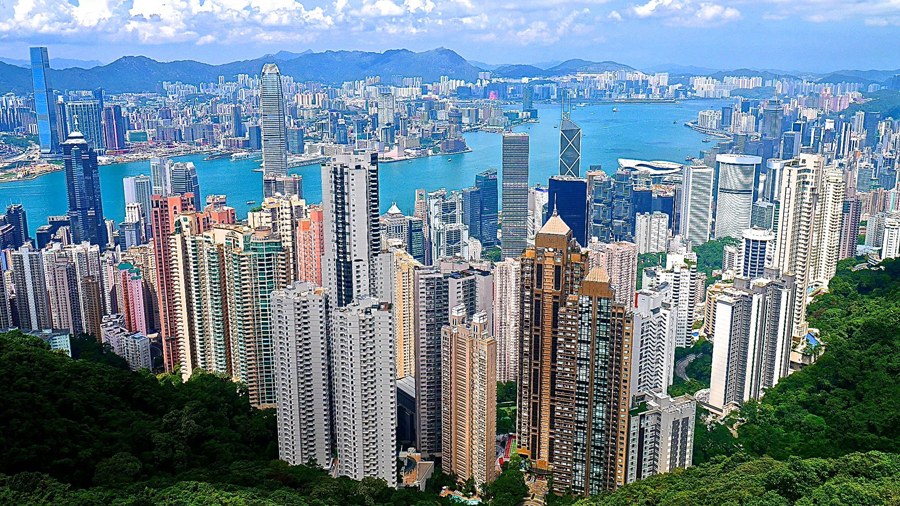 The spectacular view of Hong Kong from The Peak