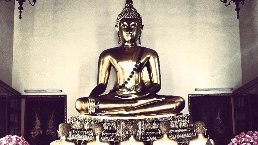 A Buddha statue at Wat Pho
