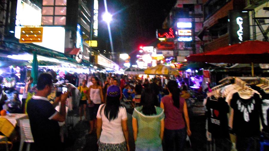 Bustling Khao San Road at Night
