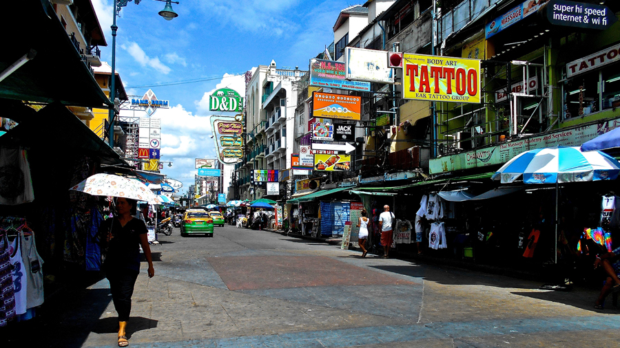 Khao San Road in the morning