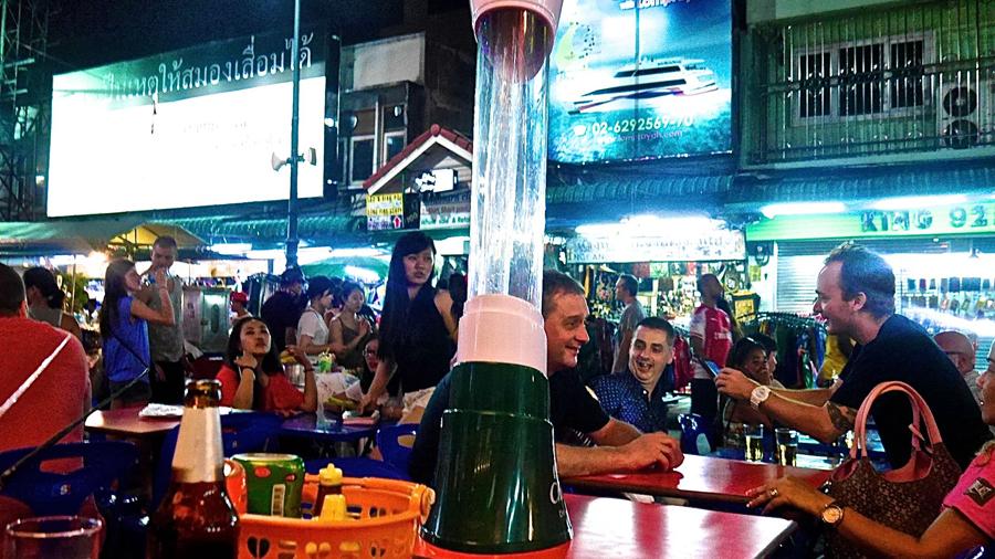 Tourists enjoying drinks deals