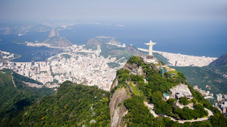Aerial shot of Rio de Janeiro - Brazil