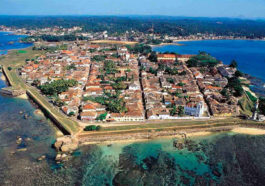 Aerial view of Galle, Sri Lanka