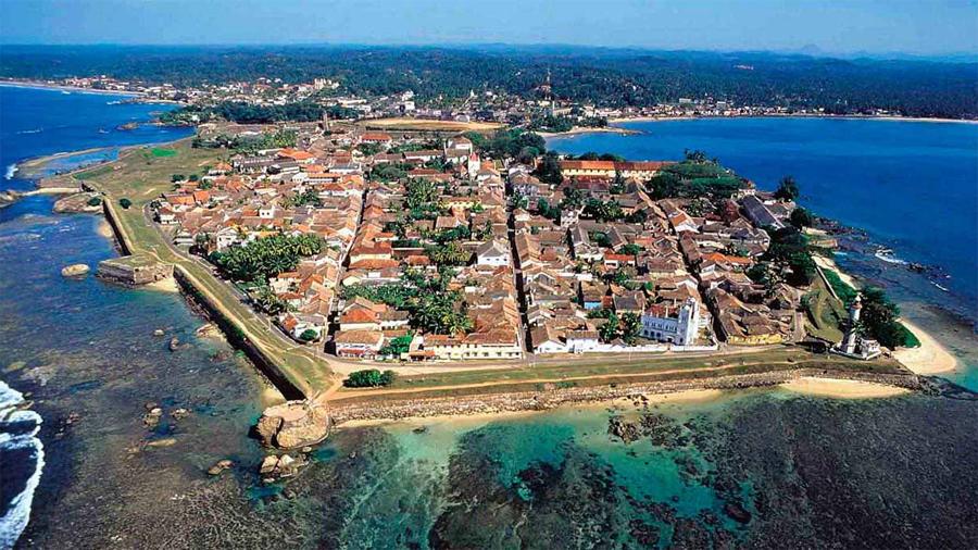 Aerial view of Galle, Sri Lanka