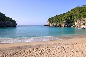 Beach at Paleokastritsa, Corfu