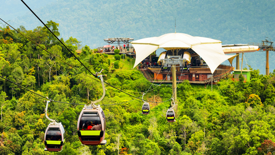 Cable car in Langkawi, Malaysia