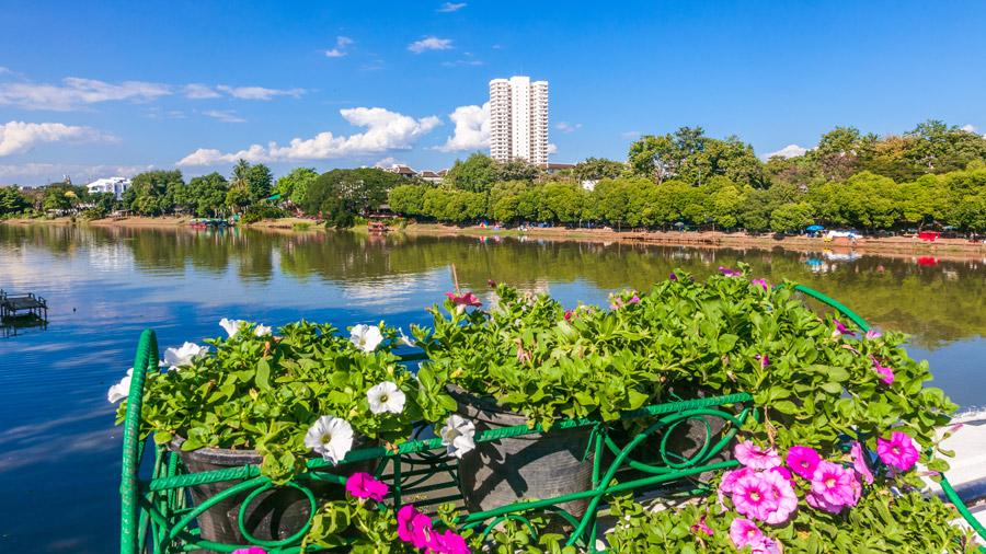 Chiang Mai riverside relaxaing view
