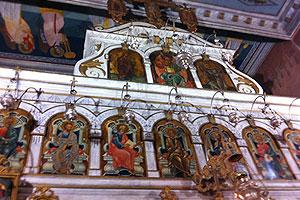 Inside of the old church of Theotokos Monastery, Corfu