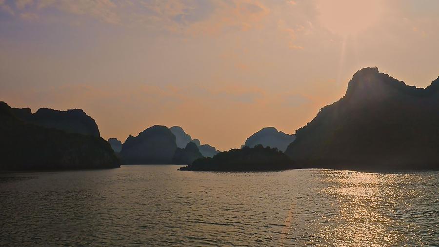 Magical Ha Long Bay at dusk