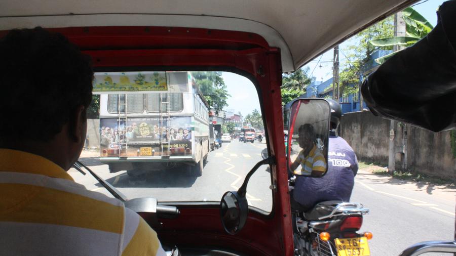 Modern Galler seen from the back of a rickshaw