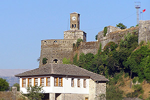 Overlooking the Gjirokastra town on a high outcrop is a vast 13th century citadel, one of the largest in the Balkans
