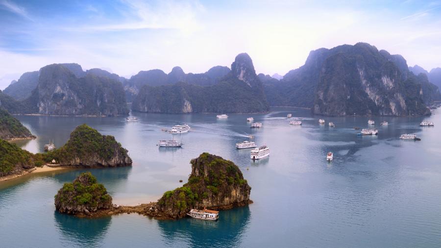 Panoramic view of Halong Bay - Vietnam