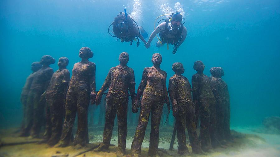 Seven underwater wonders of the Caribbean - Underwater Sculpture Park, Grenada