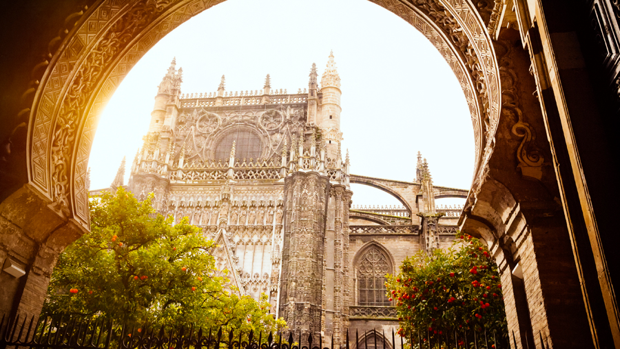 Seville Cathedral is filled with the scent produced by the large orange orchard enclosed within its walls