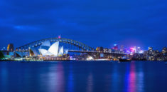 Sidney's Opera House and Harbour Bridge at twilight - Australia