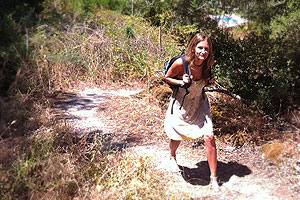 Trekking up the donkey tracks in Corfu