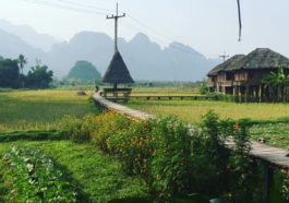 Vang Vieng is a small, untidy town located in northern Laos