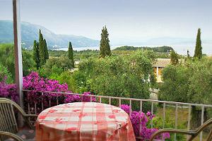 View from Marilena apartments on the edge of Paleokastritsa, Corfu
