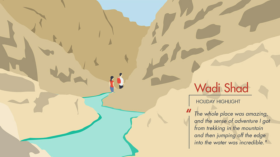 Wadi Shad was the holiday highlight in Oman