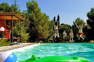 We stayed in an airy, light-filled rented villa with its own pool just outside of a cute little village called Mogliano