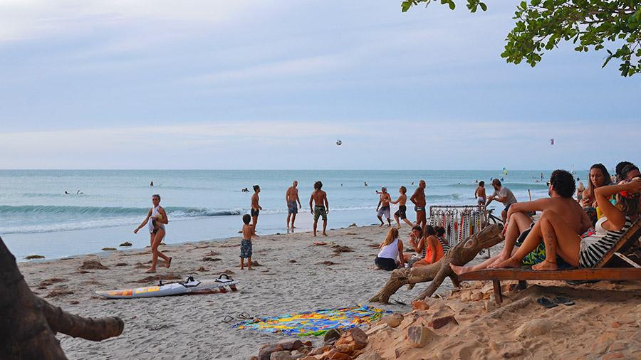 Beach in Jericoacoara, Brazil