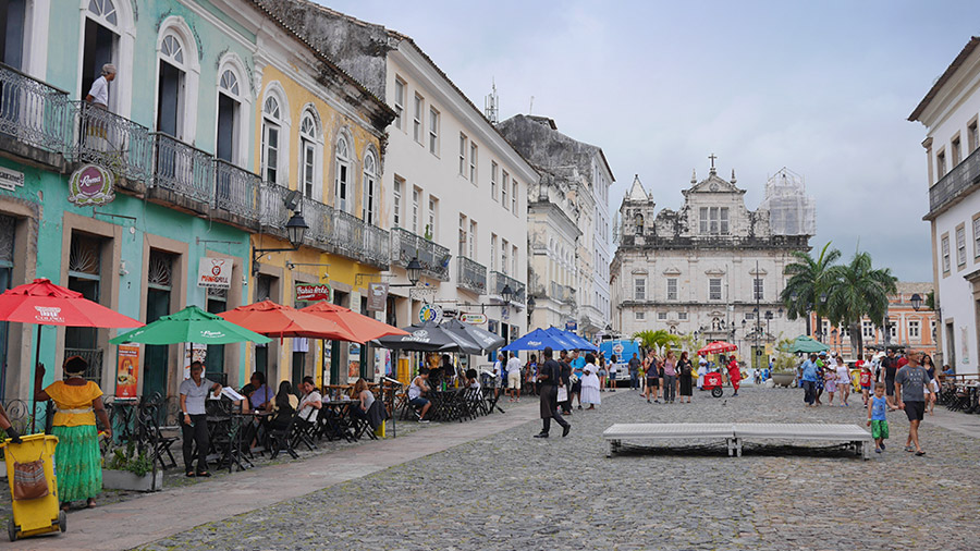 Pelourinho is Salvador's historic centre, Brazil